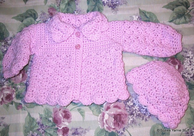 Baby Sweater Set Crochet Patterns Bronze Cardigan