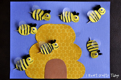 make a beehive and little bees
