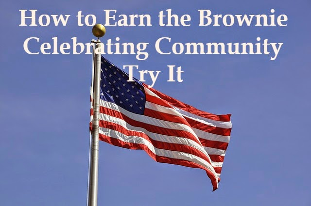 how to earn the Brownie Girl Scout celebrating community try it