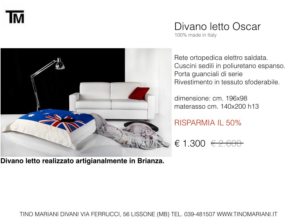 Divani blog tino mariani divani in promozione - Divano letto pronta consegna ...
