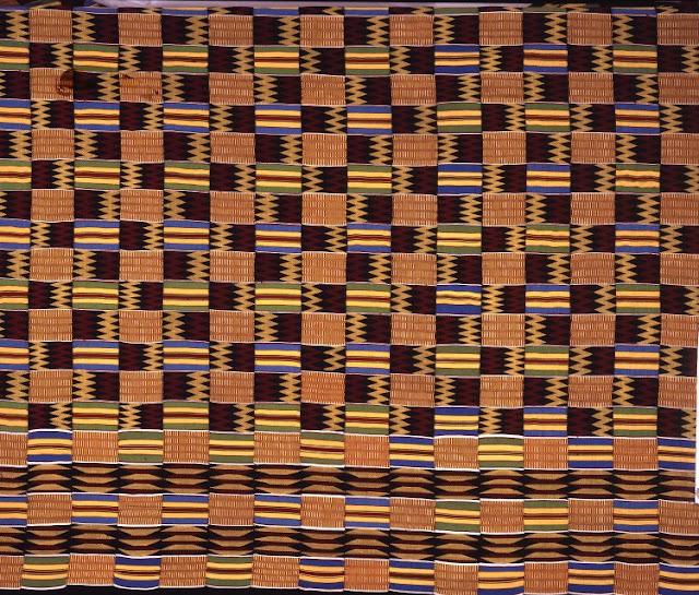 Silk kente cloth, 1947