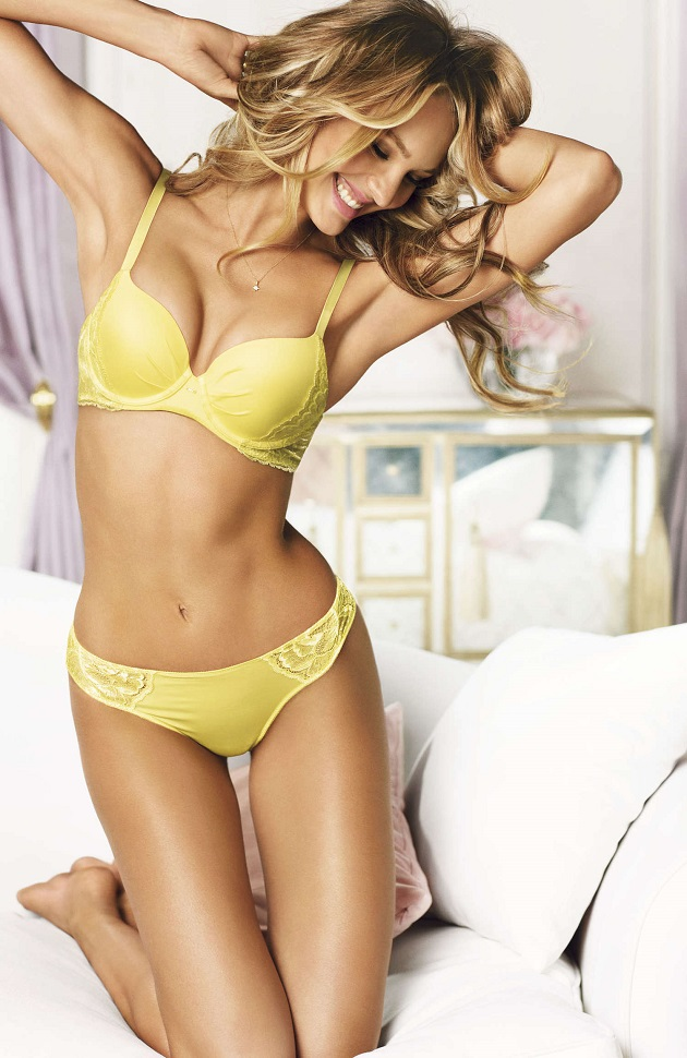 Candice Swanepoel poses for Victoria's Secret Campaign