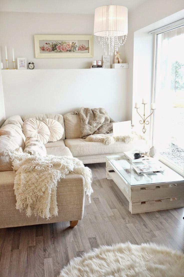 9 fotos de decoraci n de salas en blanco - Muebles rusticos en blanco ...