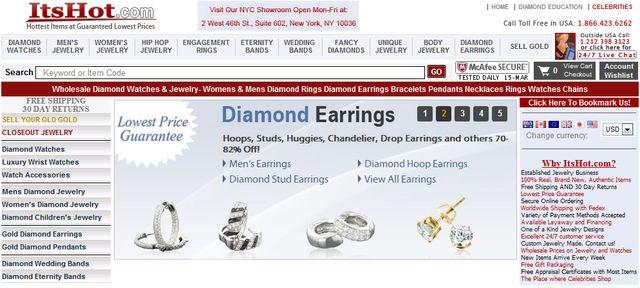 Mens Diamond Earrings by ItsHot.com