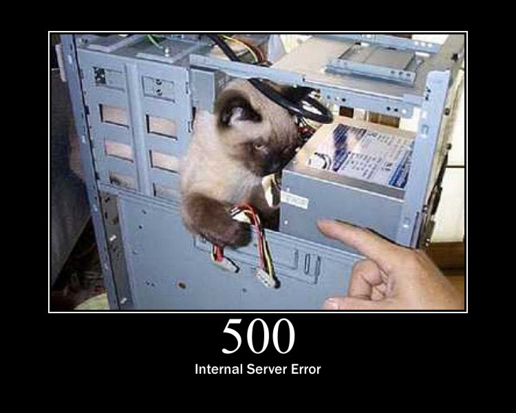 500 internal server error: