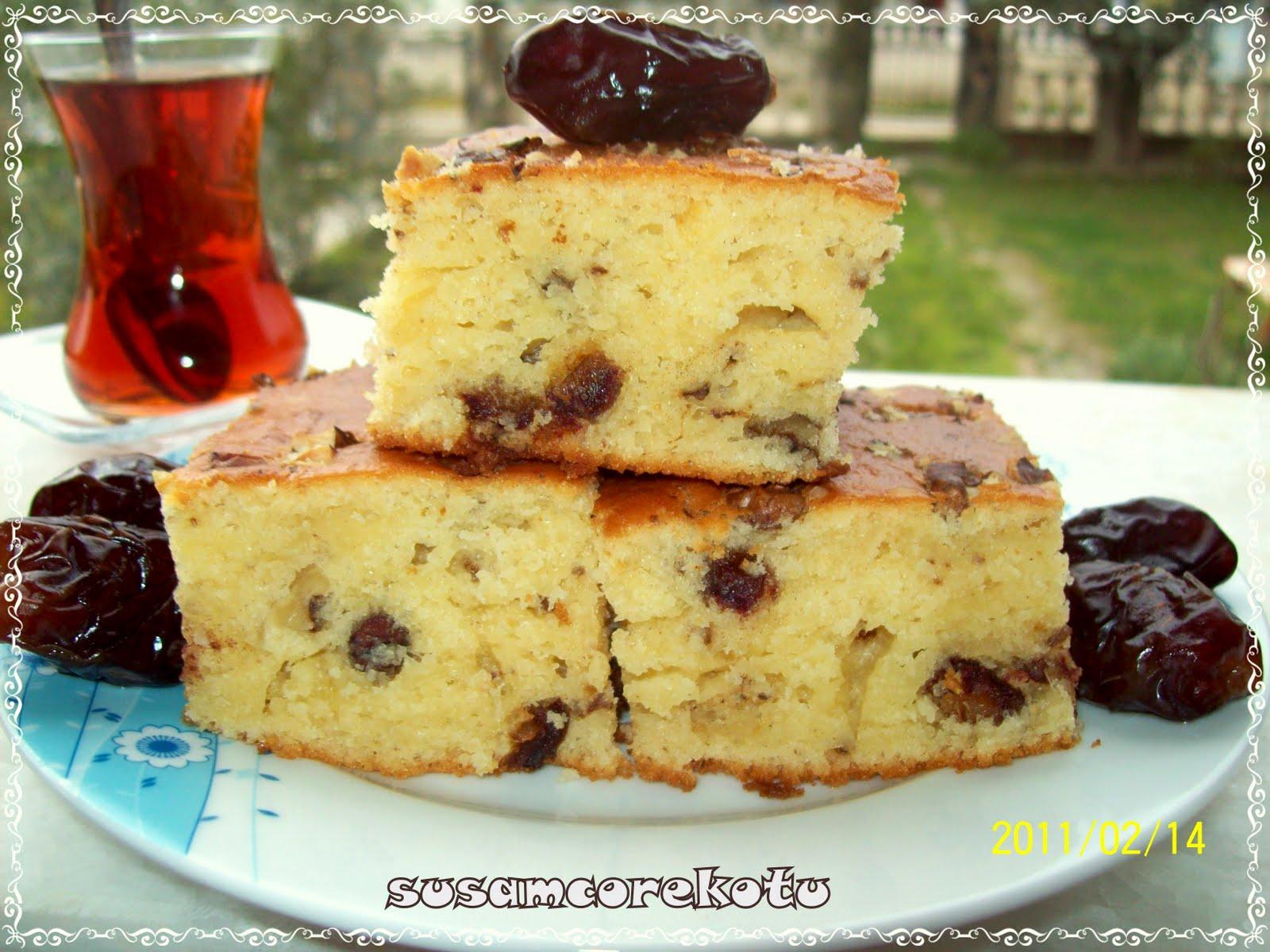 Kestane ballı ve cevizli kek tarifi