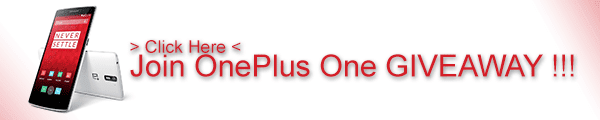 Join OnePlus One Giveaway