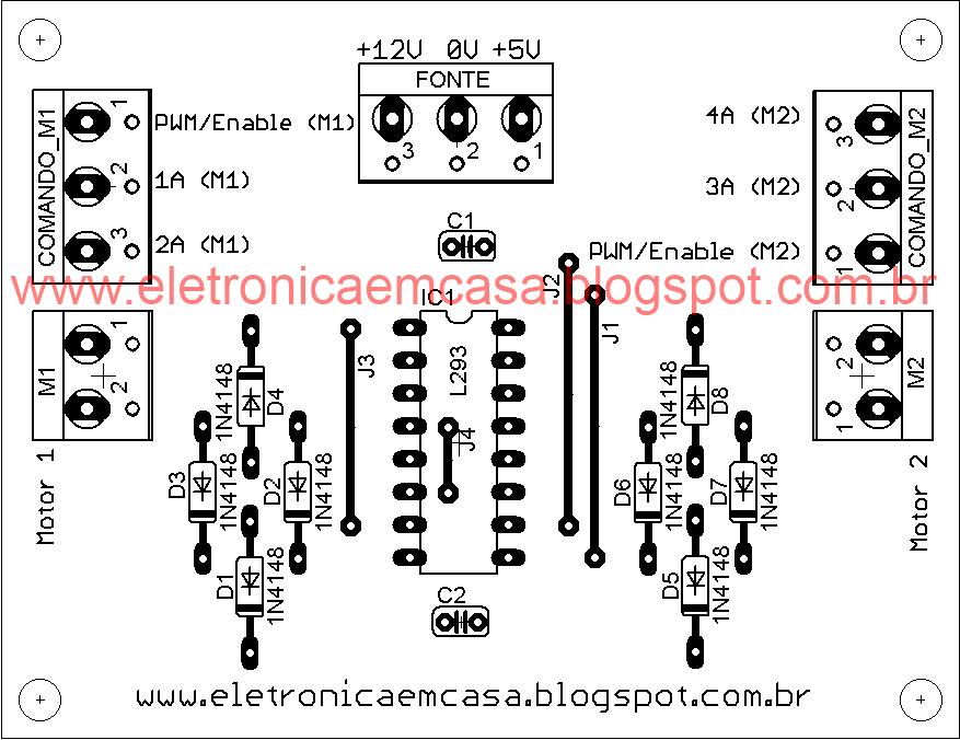 ponte-h com o circuito l293  half bridge