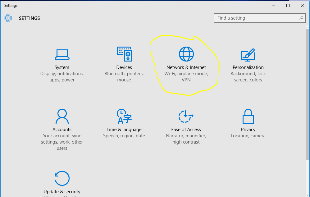 how to set manual ip address