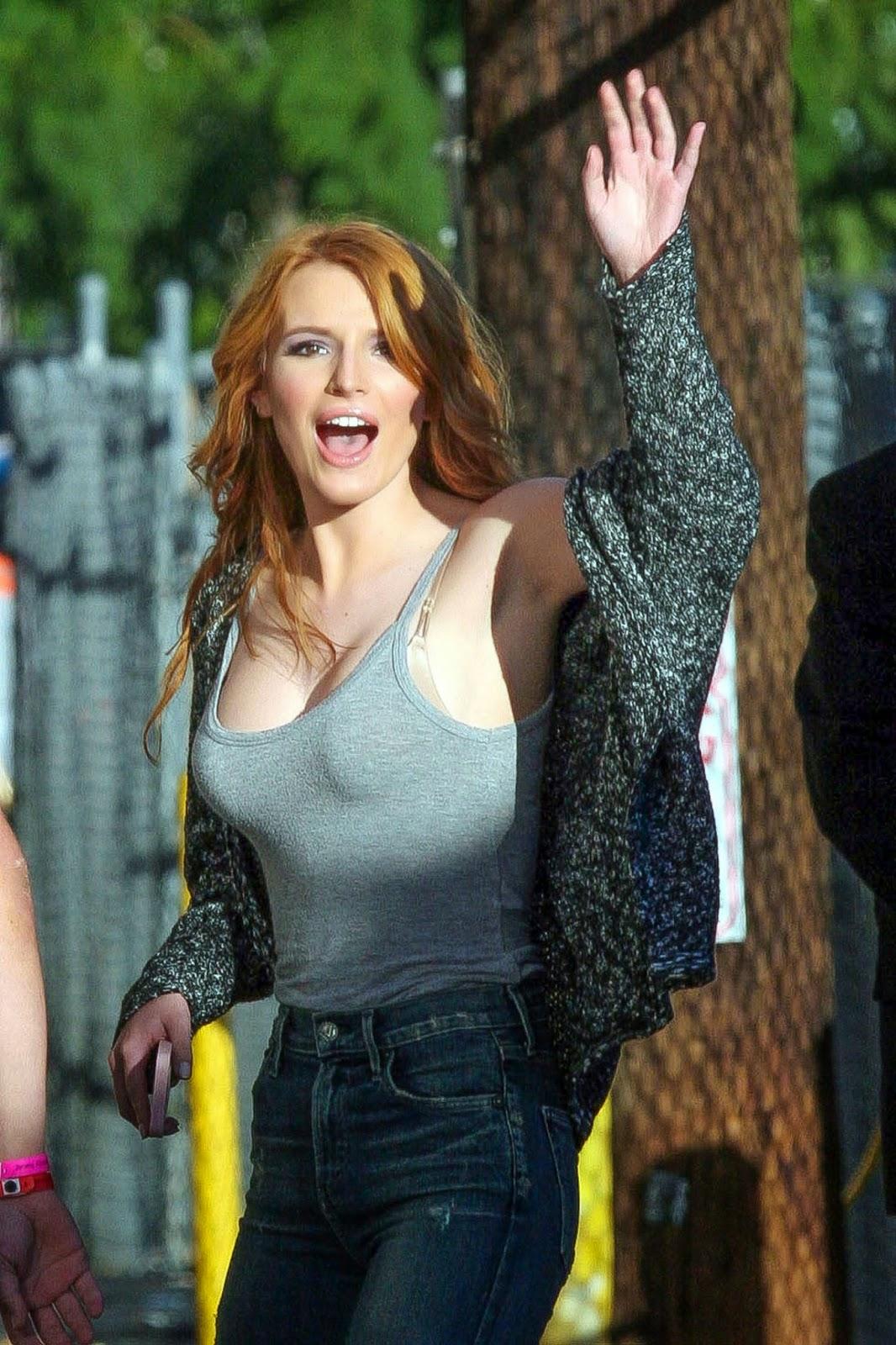 Bella Thorne – Arriving at 'Jimmy Kimmel Live!' in Hollywood