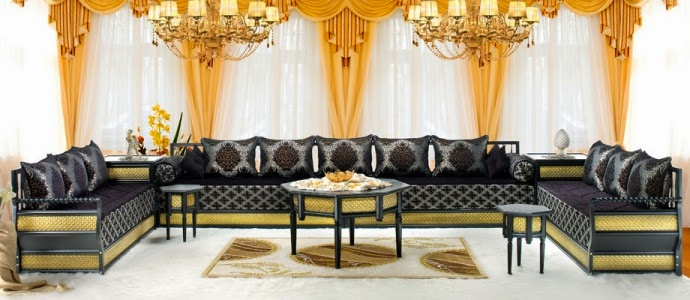 salon marocain salon marocain lyon. Black Bedroom Furniture Sets. Home Design Ideas