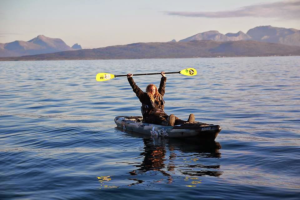 Joel Abrahamsson celebrates world record after landing 1,247 pound greenland shark off Andörja Island, Norway