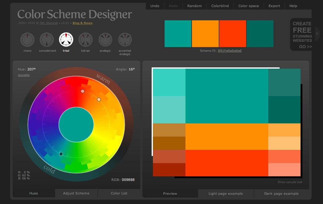 Perfect Color Combinations tech slices: identify the perfect color combination for your webpage