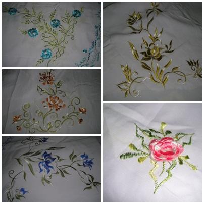Telekung sulam 8 kuntum bunga sulam timbul RM85