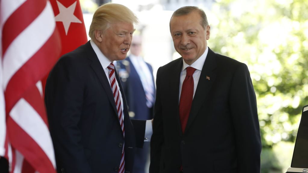 Donald Trump and Recep Erdogan and the Islamic States of America deep state oil oligarch flag