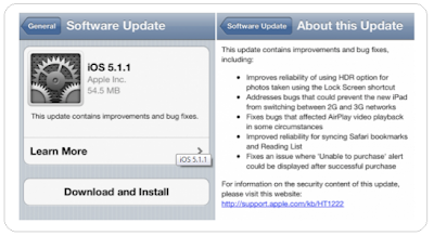 Apple updates iOS 5.1.1 (9B206)
