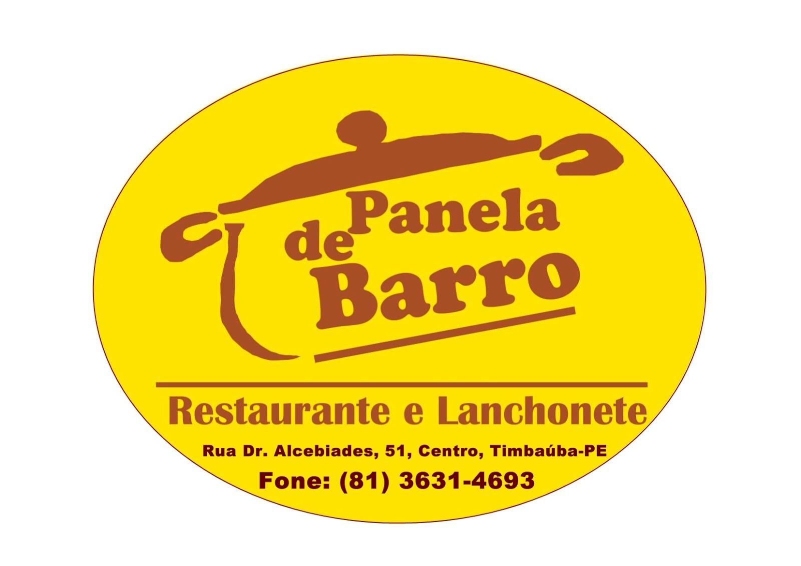 Restaurante e Lanchonte Panela de Barro, Rua Dr. Alcebíades, Centro de Timbaúba