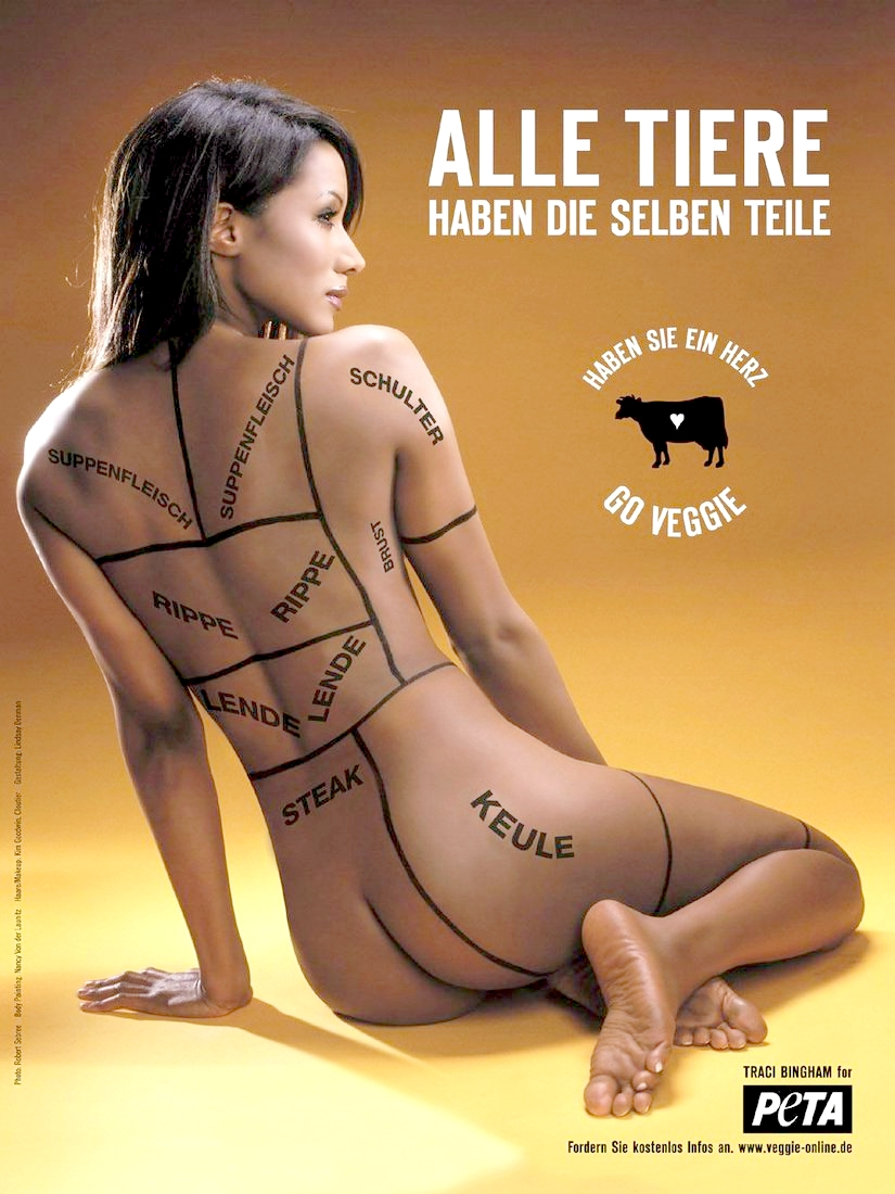 Traci Bingham. 'By exposing myself, I hope to expose others to the many benefits of a vegetarian diet'.