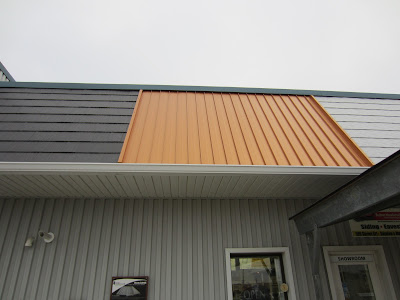 Buchner aluminum roofing display