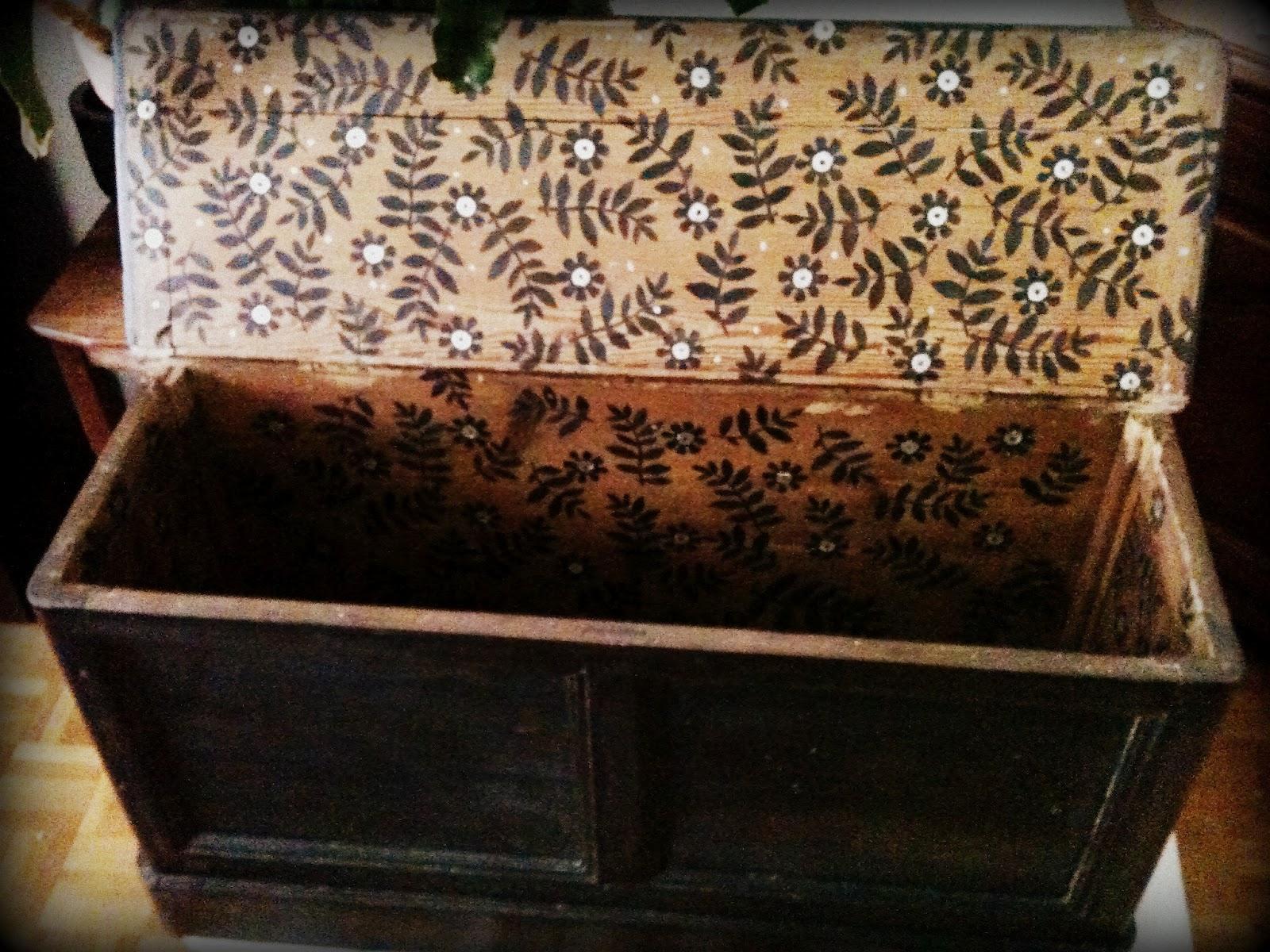 Toti t a toti un tresor de coffre - Coffre en bois a peindre ...