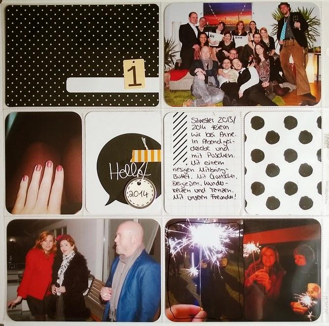 Project Life Layout mit PL Midnight Edition von Wiebke Hahn für www.danipeuss.de