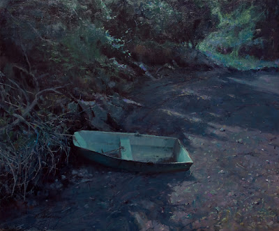 Moonstruck Dinghy – 20″x 24″ – Oil