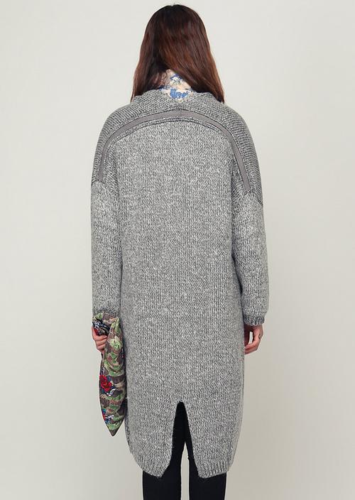 Oversized Long Knit Cardi-jacket