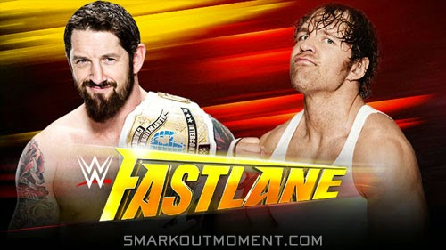 WWE Fast Lane 2015 PPV Bad News Barrett vs Dean Ambrose