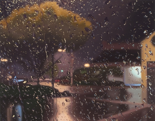 08-Trace-Gregory-Thielker-Oil-Paintings-In-The-Rain-Photo-realistic