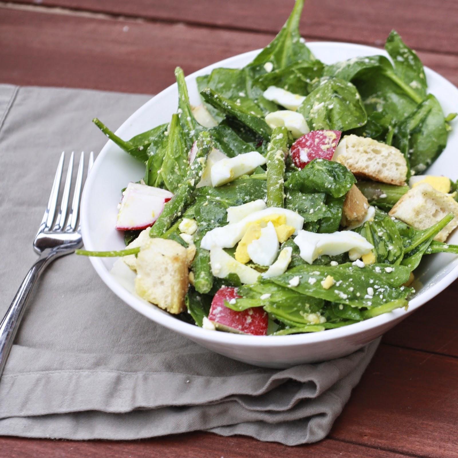 Spring Panzanella Salad