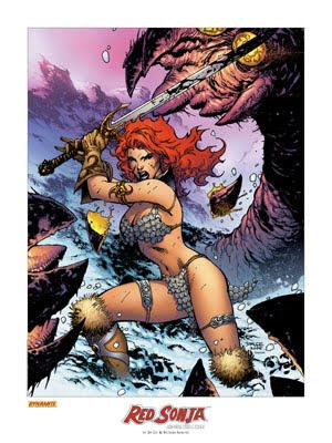 Red Sonja - She devil with a sword fantasy art female warrior