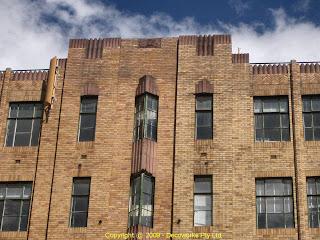 Pioneer house facade detail