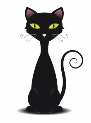 black cat cartoon. 133t anti- Indian h4x0rs
