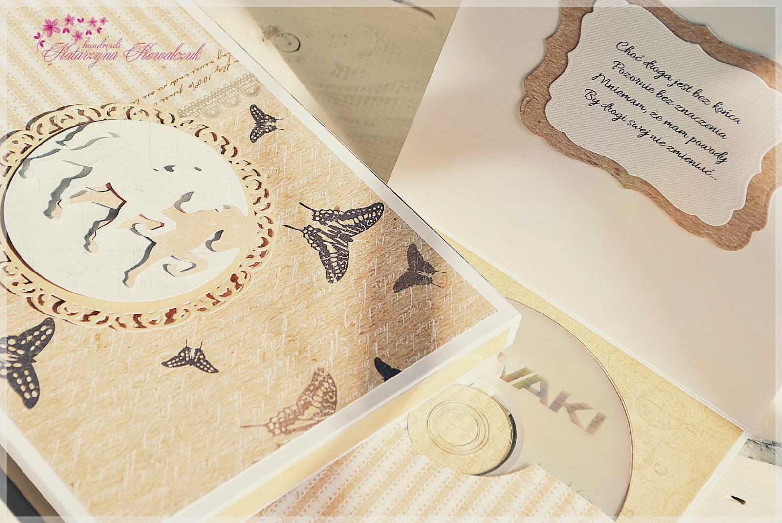 Folder na płytę CD oraz pudełko na zdjęcia scrapbooking
