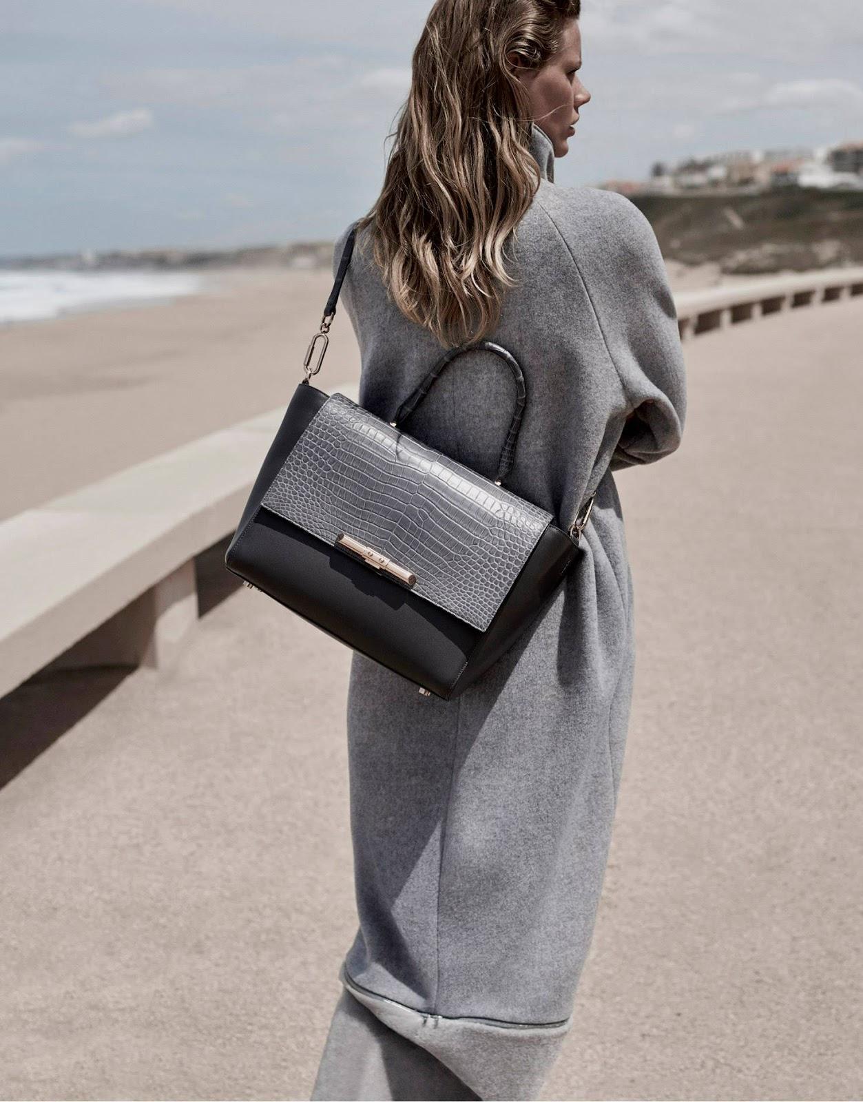 Amanda Wakeley Autumn/Winter 2015 collection featured in Vogue UK August 2015 (model: Marlijn Hoek, photography: Jen Carey) via fashioned by love, british fashion blog