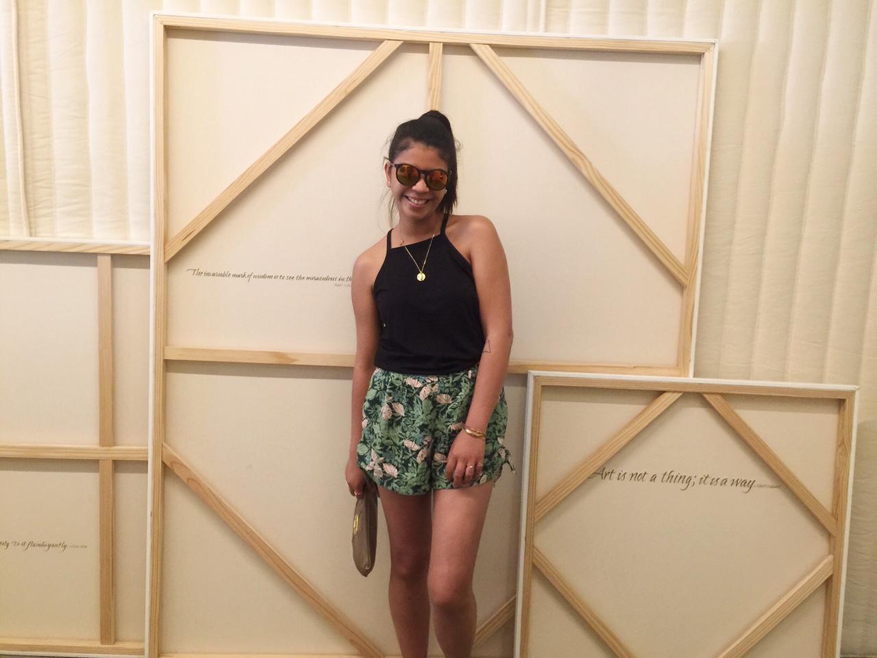 fashion blogger, ootd, tropical print shorts, black tank top, leopard print sandals, summer, portland blogger, the p town girls, thirty bucks, what i wore, fblogger