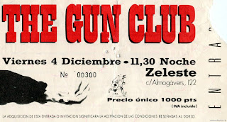 entrada de concierto de the gun club