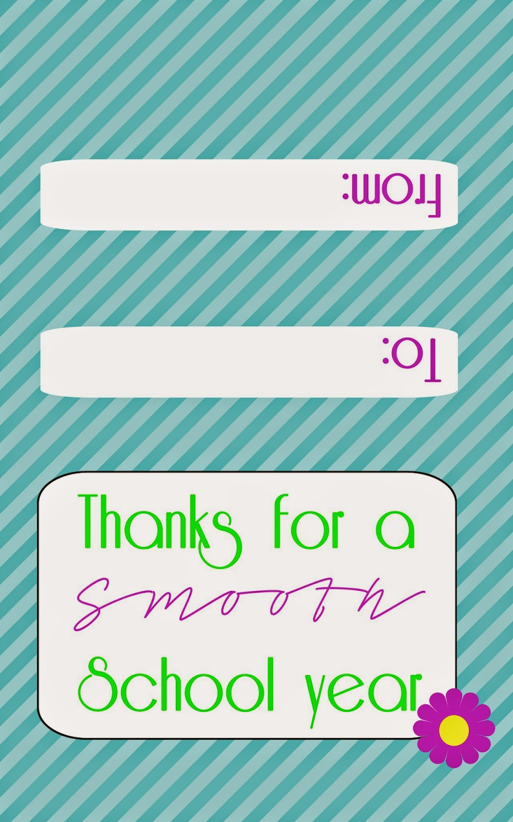 free smoothie gift card printable for teachers www.freetimefrolics.com #printable #teacher