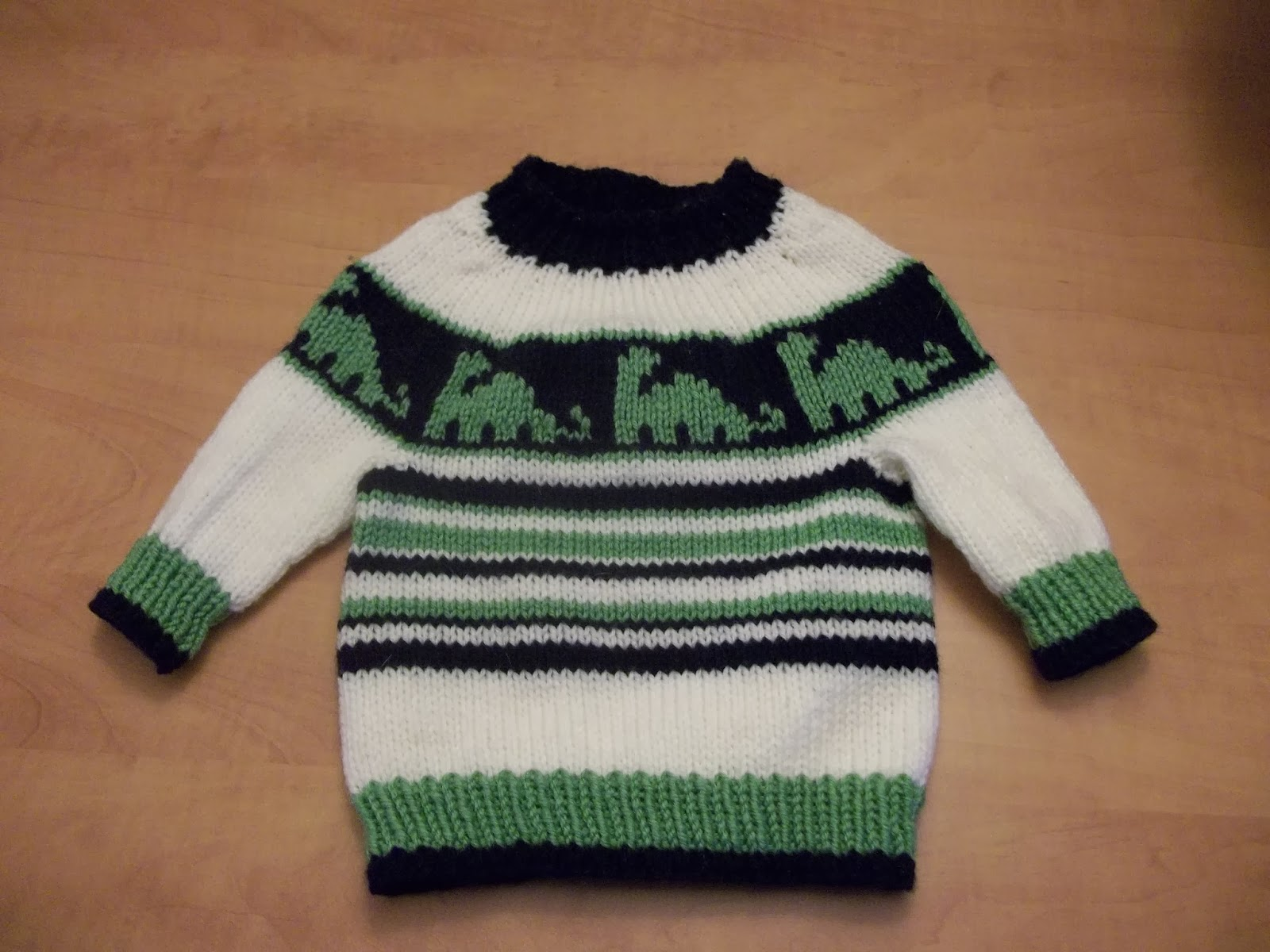 Knitting Pattern For Dinosaur Sweater : The Knitting Needle and the Damage Done: 12 Months, 12 ...