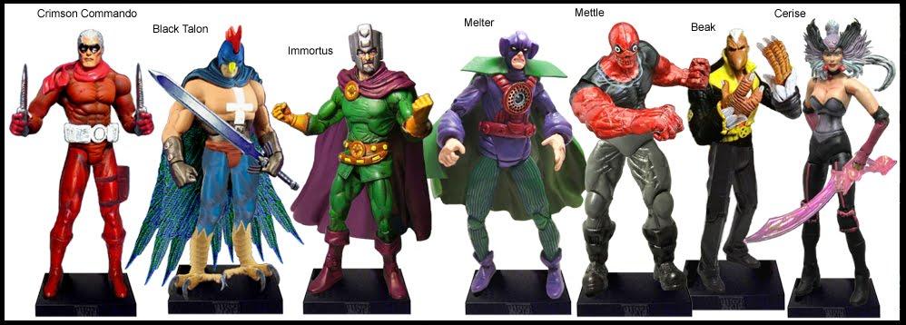 <b>Wave 46</b>: Crimson Commando, Black Talon, Immortus, Melter, Mettle, Beak and Cerise