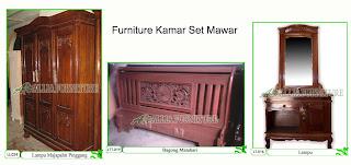 Kamar set Furniture Klender Mawar