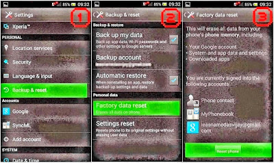 Hard Reset Sony Xperia Z2 D6503 by Code
