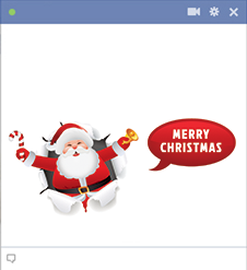Merry Christmas Santa Facebook Emoticon