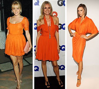 vestidos laranja da moda