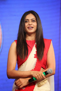 Actress Rakul Preet Singh Latest Pictures in Saree at uva Audio Launch 12