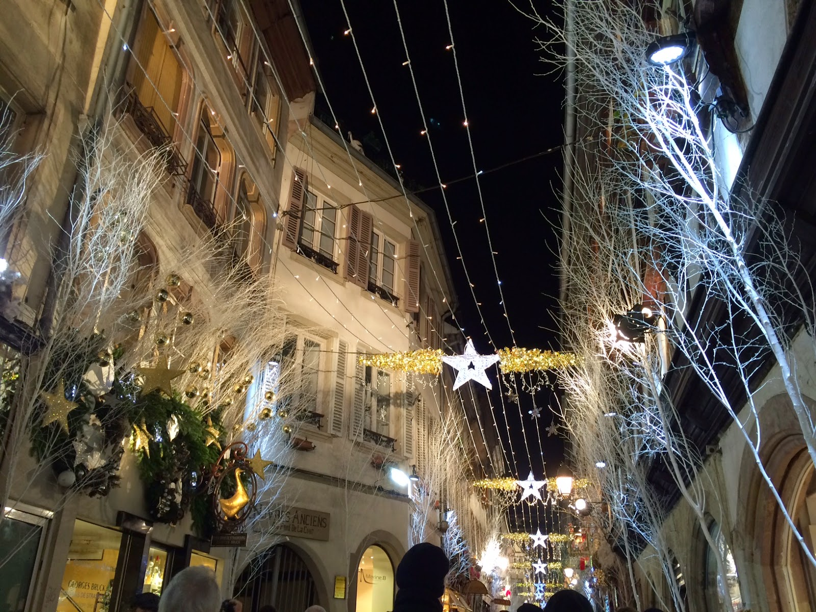 Christmas lights in Strasbourg, France