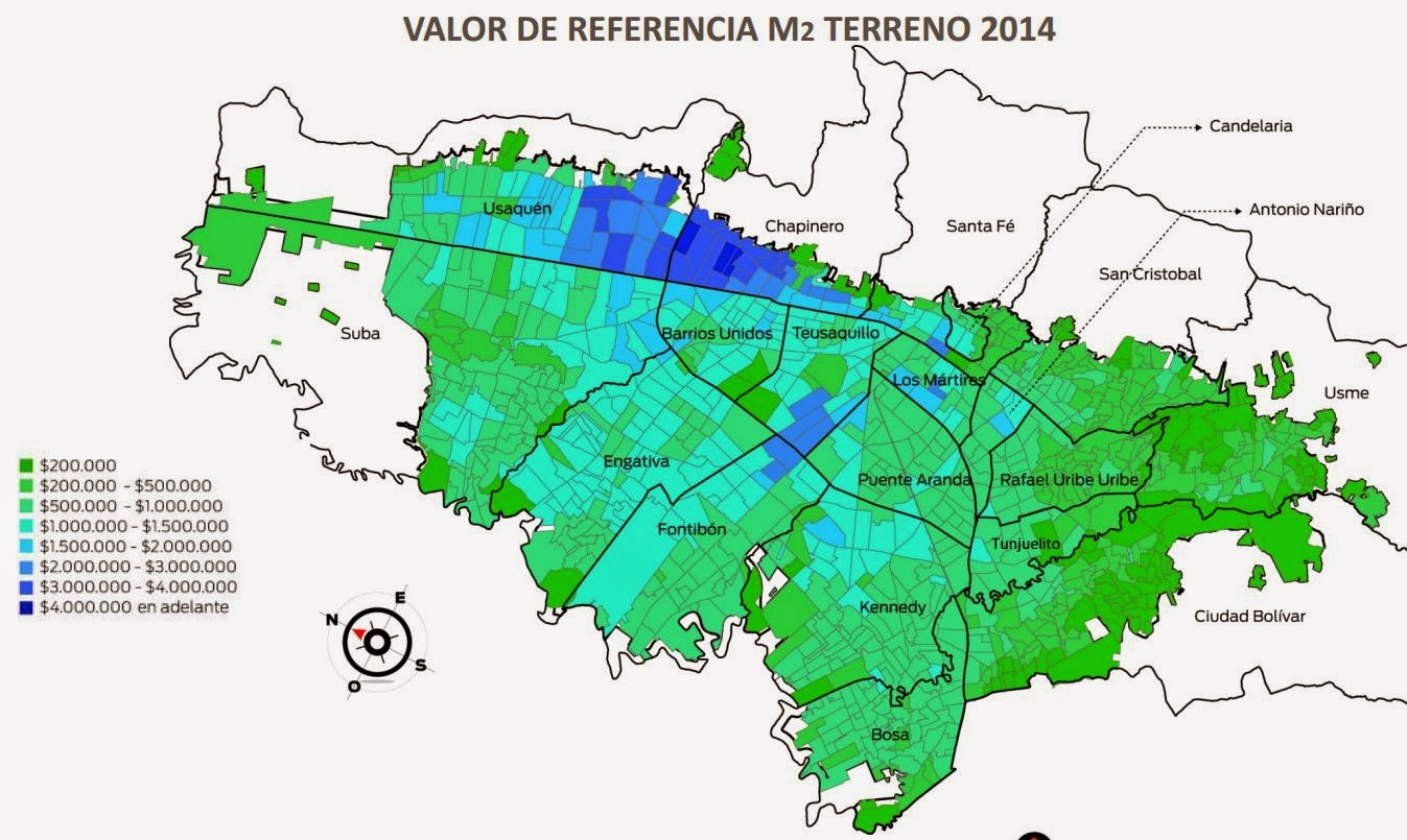 VALOR M2 CATASTRAL DE TERRENO