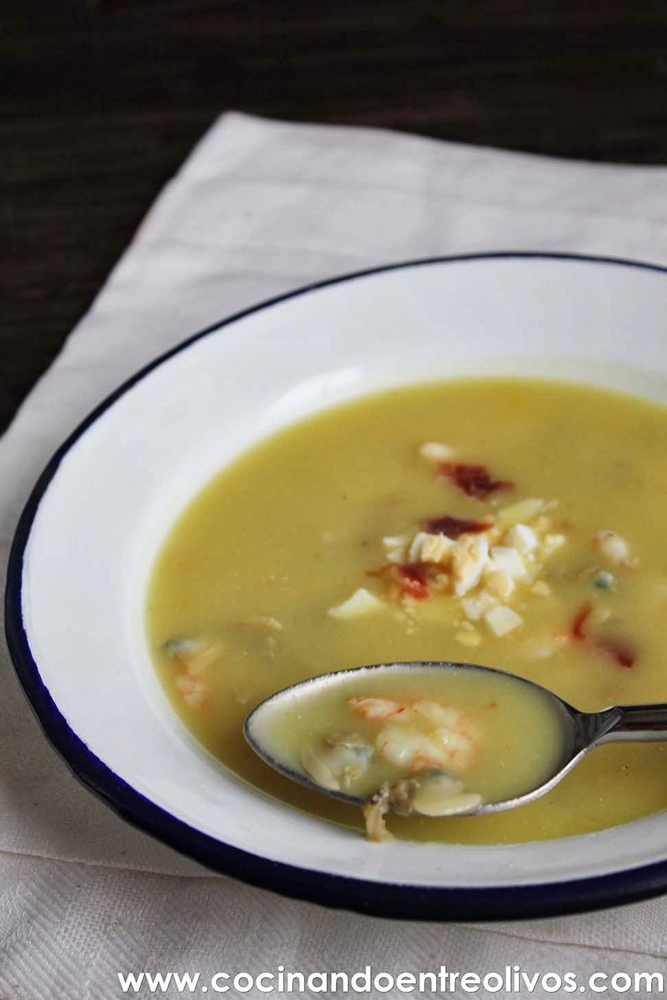 cocinando entre olivos sopa al cuarto de hora o sopa de