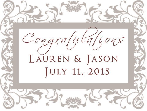 Congratulations to Lauren and Jason on their summer wedding! July 2015
