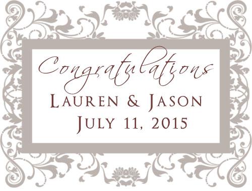 Congratulations to Lauren and Jason on their summer wedding! July 2015